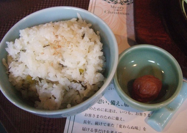 三田屋11・梅干、ご飯.JPG