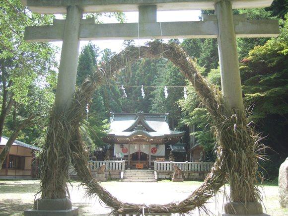 温泉神社5・鳥居と茅の輪.JPG